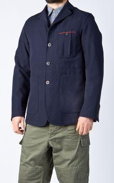 Nigel Cabourn 3 Pocket Tenzing Jacket Navy