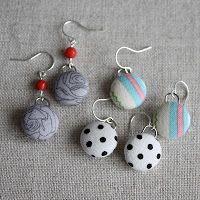Tuesday Tutorial: Dangle Fabric-Covered Button Earrings | Amy CornwellAmy Cornwell
