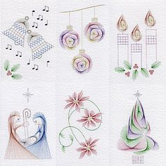 Value Pack No. 75: Christmas in Christmas patterns at Stitching Cards - ePatterns for paper embroidery