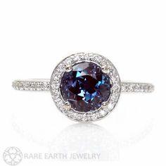 Alexandrite Engagement Ring Alexandrite Ring Diamond by RareEarth