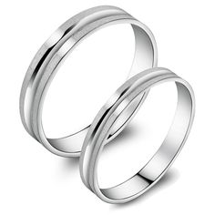 Japanese pair rings Frosted sterling silver - $23