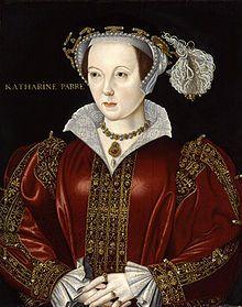 Catherine Parr fut la sixième épouse d'Henri VIII ; portrait attribué à William Scrots, vers 1545 Portrait d'une femme au teint pâle portant une ample robe rouge et dorée
