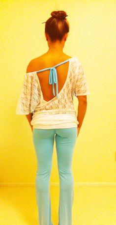 Adjustable Cute off the Shoulder Lace Back Shirt