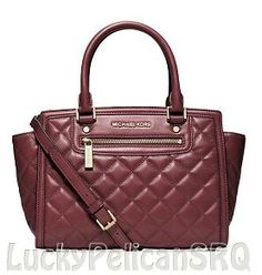 Michael Kors Selma Quilt Medium Top Zip Satchel Tote Bag Claret Red Hi I'm going to need this Michael Kors Selma, Michael S, Cheap Michael Kors, Michael Kors Outlet, Mk Handbags, Handbags Michael Kors, Fashion Handbags, Michael Kors Bag, Designer Handbags