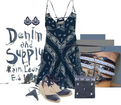 """Denim"" by kloeyblue ❤ liked on Polyvore"