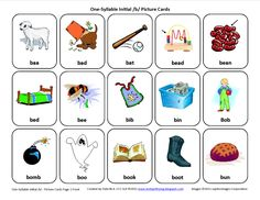 Initial /b/ Articulation Card... Download this Articulation Card here http://testyyettrying.blogspot.com/2011/07/initial-b-free-speech-therapy.html