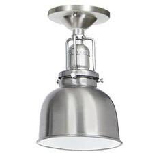 """JVI Designs 1202-17-M2 Pewter Union Square 1 Light Semi-Flush 8.75"""" Tall Ceiling Fixture with Metal Shade on build.com"""
