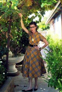 1949 Plaid Dress   Wearing History