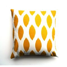 Yellow Ikat Pillow. design inspiration on Fab. Super easy to do with canvas and acrylic.