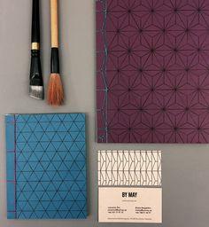 Watoji Notebooks – Scandinavian pattern design meets traditional Japanese bookbinding, handmade by Mihiro Burman.