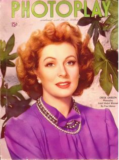 Greer Garson on the cover of Photoplay, May 1945