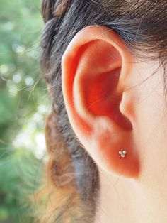 Three Dot Stud Earrings, 925 Sterling Silver, Dainty earrings, Minimalist Jewelry, Trinity Earring, Cartilage, Helix - MI.21/ST059