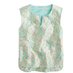 J.Crew Gilded brocade top ($150) ❤ liked on Polyvore