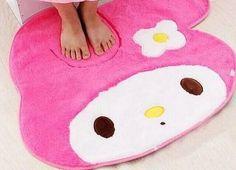 Kawaii Melody 60*70CM Bedroom Cotton Floor Mat Pad Doormats ; Sweet Home Floor MAT Carpet Non-slippery Indoor Doormat Rug Mat