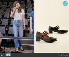 ModCloth All Tapped Out Mary Jane Heel in Black worn by Riley Matthews on Girl Meets World Matching Outfits, Matching Clothes, Stage Outfits, Fashion Outfits, Riley Matthews, Lara Jean, Character Inspired Outfits, Rowan Blanchard, Girl Meets World