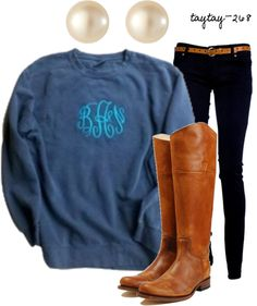 """""""Comfy Monogram"""" by taytay-268 on Polyvore"""