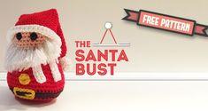 CROCHET - CHRISTMAS -  SANTA CLAUS bust / PERE NOEL / KERSTMAN - FREE pattern - Dendennis Amigurumist