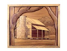 Old Log Cabin in Smoky Mnts. Intarsia Pattern