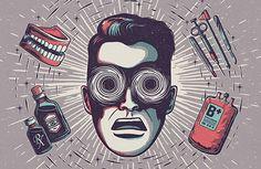 Mens Health by Andrew Fairclough – 2 Illustration Illustration Photo, Creative Illustration, Graphic Illustration, Jasper Johns, Roy Lichtenstein, Andy Warhol, Richard Hamilton, Pop Art, Jacky Winter