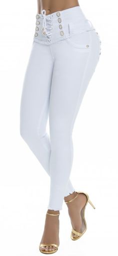 Jeans levanta cola REVEL 56177 Blanco