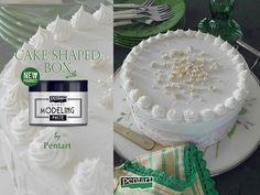 Pentart dekor: Torta alakú doboz az új Pentart Modellező pasztáva...
