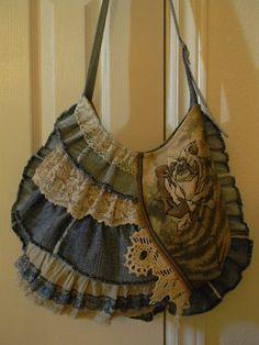 Denim Boho Shoulder Bag -- $65