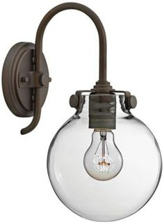 Hinkley Congress Bronze with Clear Glass Wall Sconce - #EU2X515 - Euro Style Lighting