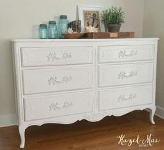 Annie Sloan Pure White Dresser {by Hazel Mae Home}