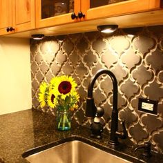 Kitchen back splash... such a great texture!