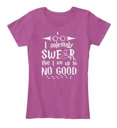 I Solemnly Swfar That I Am Up To No Good Heathered Pink Raspberry T-Shirt Nữ Front