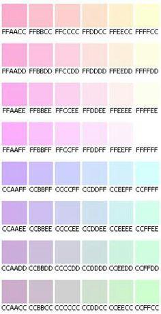 Pastel hex codes