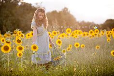 Laylas Sunflower Session:: Children Photography, Knoxville, TN | {leah bullard photography}