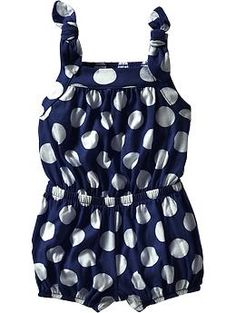 Bow-Tie Jersey Rompers for Baby | Old Navy so cute!!!