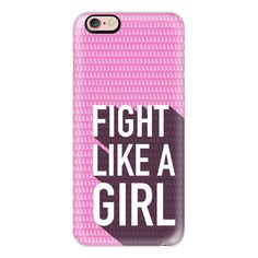 iPhone 6 Plus/6/5/5s/5c Case - Fight like a girl, breast cancer... ($40) ❤ liked on Polyvore featuring accessories, tech accessories, iphone case, iphone 6 case, iphone cases, apple iphone 6 case and apple iphone cases
