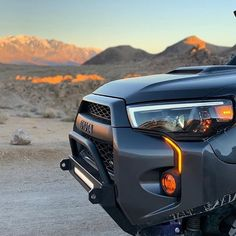 We develop these Toyota PRO-series headlights based on its stock design and add a LED tube around the edge as DRL and sequential turn signal. 4runner Off Road, Toyota 4runner Trd, Toyota 4x4, Toyota Trucks, Four Runner, 4runner Accessories, Tacoma World, Tacoma Truck, Projector Headlights