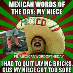 Mexican phrase of the day: my niece