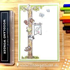 Stempellicht: Woodland Wonder Doodle, Pinterest Instagram, Stampinup, Stampin Up Cards, Making Ideas, Woodland, Card Making, Paper, How To Make