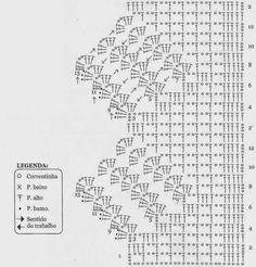 Luty Artes Crochet: Barrados e gráficos.