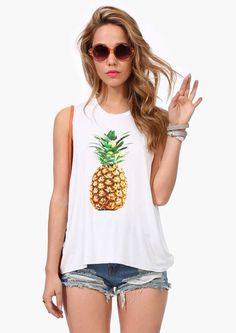 Obsessed with pineapples rn, pineapple tank