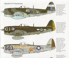 vintage Aircraft print Republic Thunderbolt WWII airplane military aircraft print bedroom decor plane