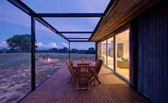 Modscape designed the solar-powered, self-sustaining Tintaldra cabin in Victoria, Australia.