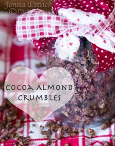 Combining almonds and chocolate was one of my many culinary dreams last fall. This combination of cocoa, nuts, and coconut is sure to please everyone. Use for easy snacks, desserts, or breakfasts. Relish this crunchy, grain-free, gluten-free, dairy-free delight, and/or enjoy gifting to others! | TraditionalCookingSchool.com