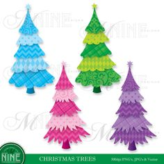 Shop for christmas on Etsy, the place to express your creativity through the buying and selling of handmade and vintage goods. Christmas Tree Clipart, Christmas Paper Crafts, Christmas Ornaments, Clips, Holiday Decorating, Display Ideas, Mosaics, Holiday Ideas, Journaling