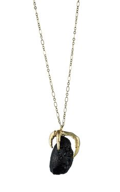 Claw and Meteorite Necklace by Natalie Frigo