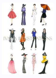Fashion illustration print sketch Style love by IvanaIllustrations