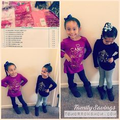 Anybody else get their $3.75 long sleeve tees for kiddos deal? . . (posted on TomorrowsMom.com last week) . . I'm so happy I stocked up since my girls grew out of all their clothes this year. They are happy Daddy is happy and my savings acct is happy   #familysavings #frugal #kids