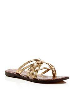 Sam Edelman Georgette Metallic Strappy Thong Sandals | Bloomingdale's