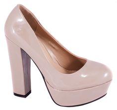 Pantofi cu platforma - Pantofi kaki cu platforma A368K - Zibra
