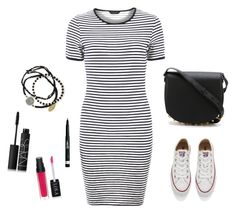 """""""Untitled #8"""" by justine-frial on Polyvore featuring Converse, Alexander Wang, Rimmel, Dorothy Perkins, NARS Cosmetics and Feather & Stone"""