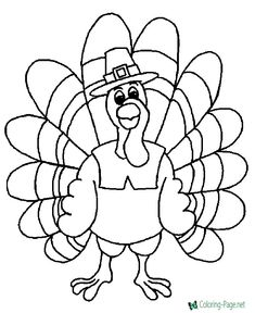 turkey coloring pages - I live 500 miles from him and so I sent my great nephew a cute little card and this page and several others to color for Thanksgiving. In 2014 he said he likes to color and so that is something we can share at a distance. Adult Coloring Pages, Turkey Coloring Pages, Fall Coloring Pages, Coloring Sheets For Kids, Coloring Pages To Print, Free Printable Coloring Pages, Coloring Books, Free Coloring, Kids Coloring